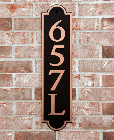 Estate Horizontal Arch Composite Plastic Address Plaque