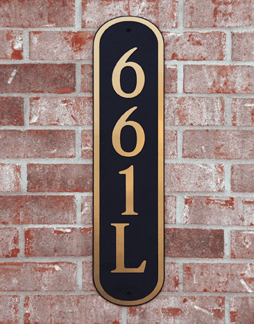 Estate Horizontal Oval Composite Plastic Address Plaque