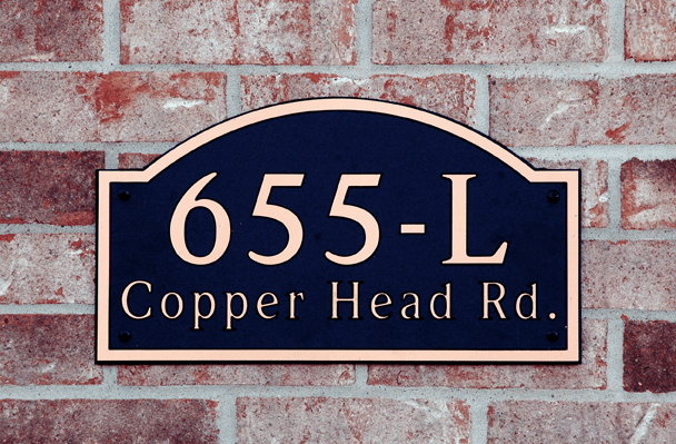 Estate Long Arch Composite Plastic Address Plaque