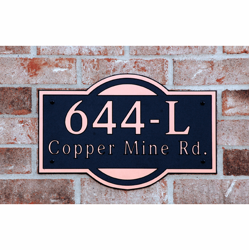 Estate Modern Composite Plastic Address Plaque