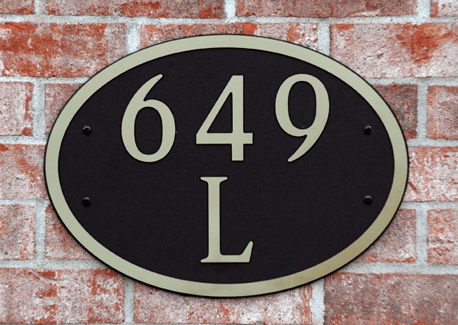 Estate Oval Composite Plastic Address Plaque