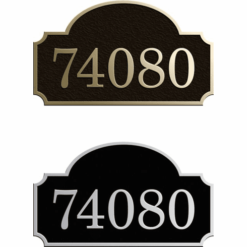 Estate Rounded Inset Arch Address Plaque