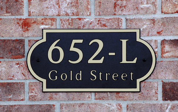 Estate Side Arch Composite Plastic Address Plaque