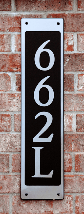 Estate Simple Horizontal Composite Plastic Address Plaque