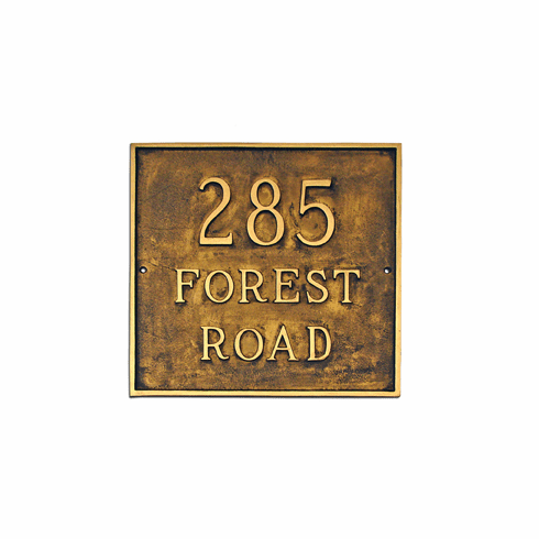 Estate Square Address Plaque
