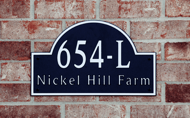 Estate Traditional Arch Composite Plastic Address Plaque