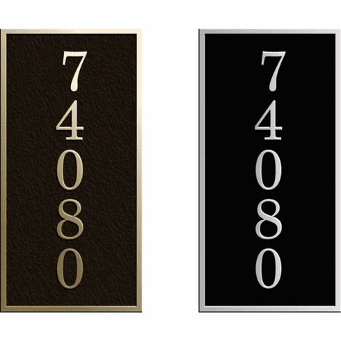 Estate Vertical Rectangle Address Plaque
