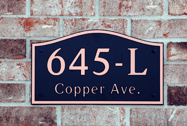 Estate Wave Compostite Plastic Address Plaque