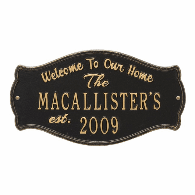 Fluted Arch Welcome Anniversary Wedding Plaque