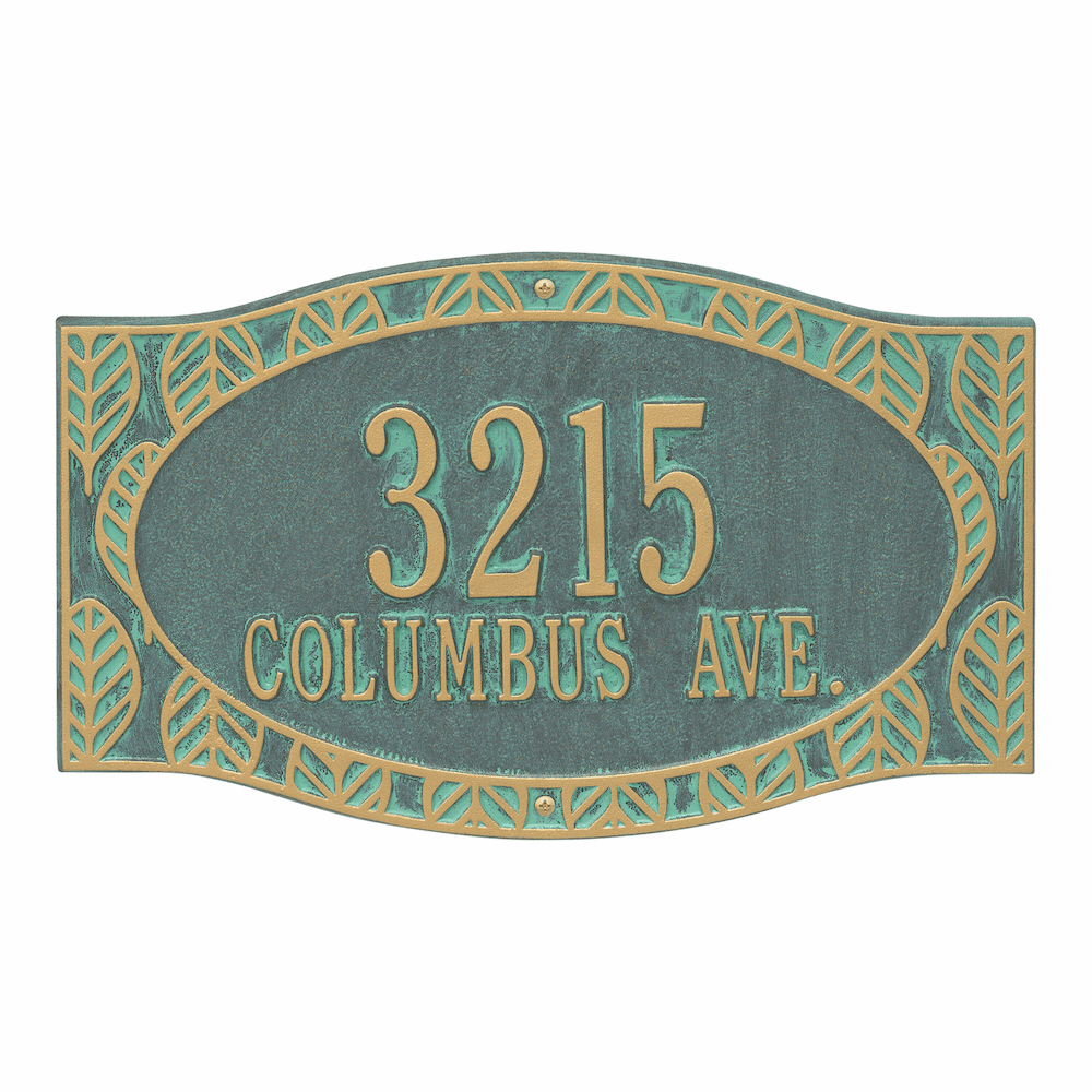 Frond Two Address Line Wall Plaque