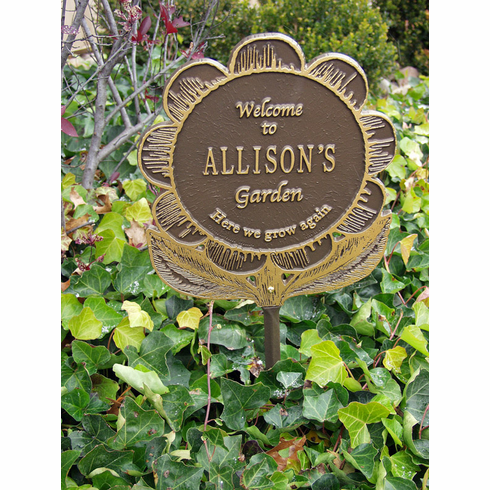 Garden Flower Plaque