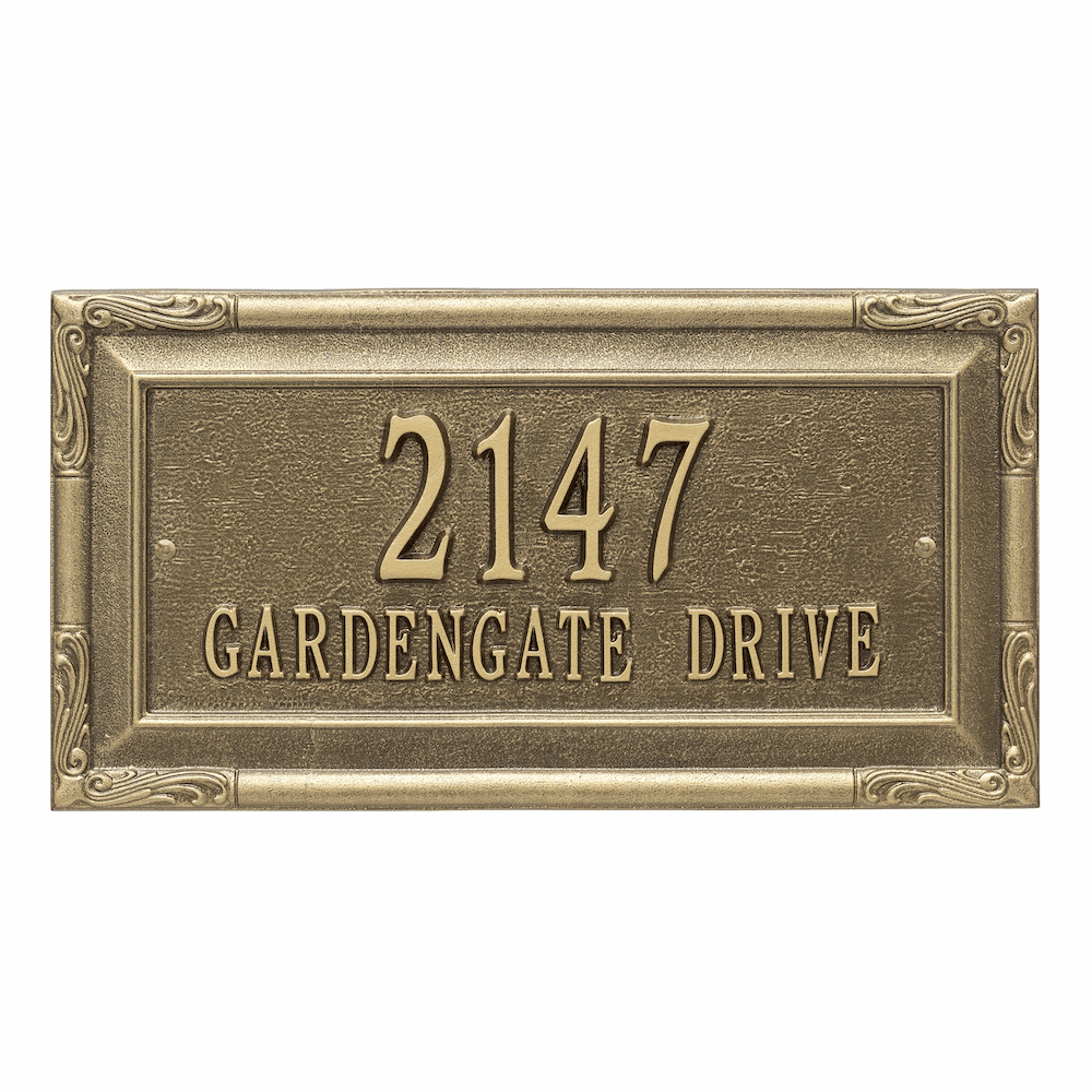 Gardengate Estate 2 Line Wall Address Sign