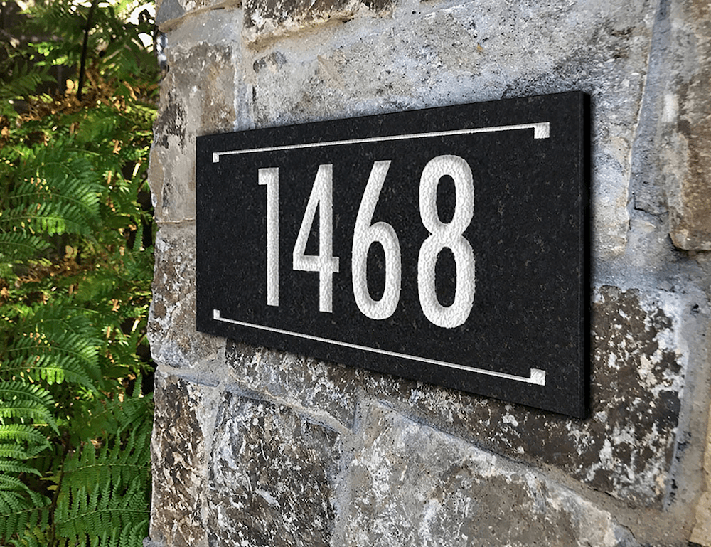 Granite Engraved Address Number Sign