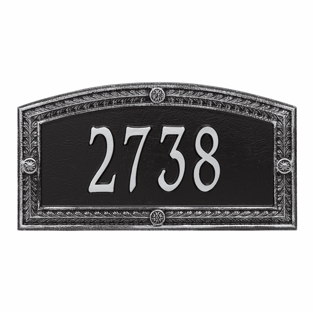 Hamilton Arch Wall Number Address Plaque