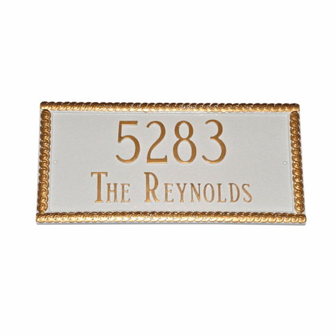Harrison Decorative Address Plaque