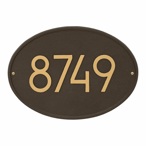 Hawthorn Oval Modern Address Number Wall Sign