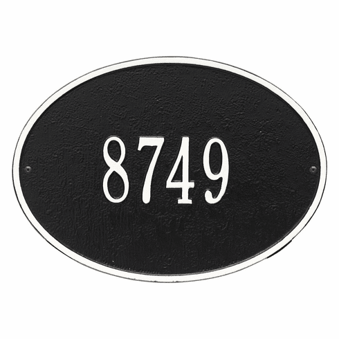 Hawthorne Classic Oval House Number Wall Plaque