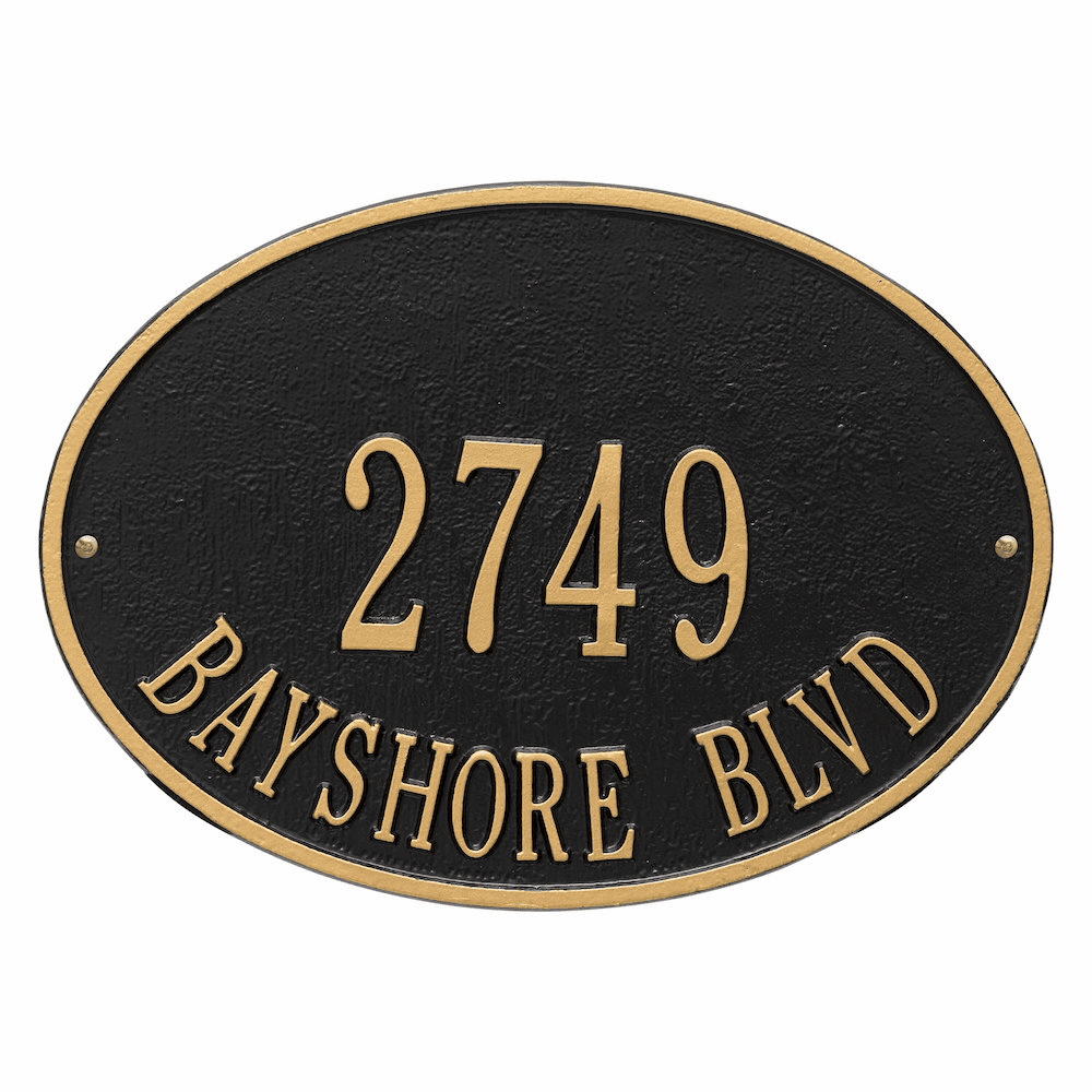Hawthorne Oval Classic Two Line Address Sign