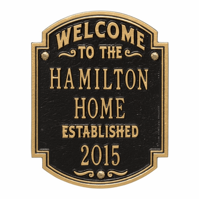 Heritage Welcome Personalized Anniversary Wall Plaque
