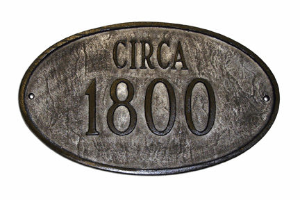 Historical Oval Plaque