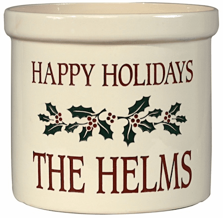 Holiday Holly 2 Gallon Crock