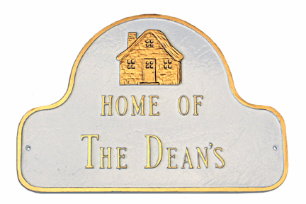 Home Of Arch Address Plaque