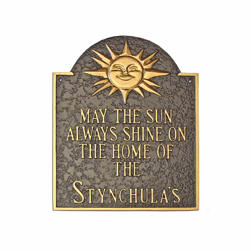 Home of Sunshine Cast Aluminum Address Marker
