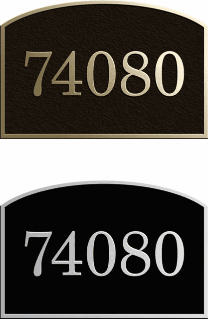 Large Full Arch Address Plaque
