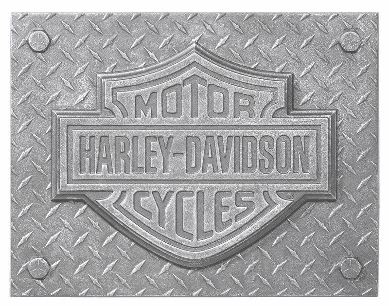 Large Harley Shield Plaque