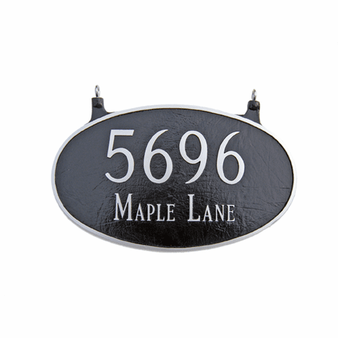 Large Two Sided Hanging Oval Address Plaque