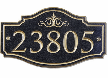 Large Victorian Address Plaque