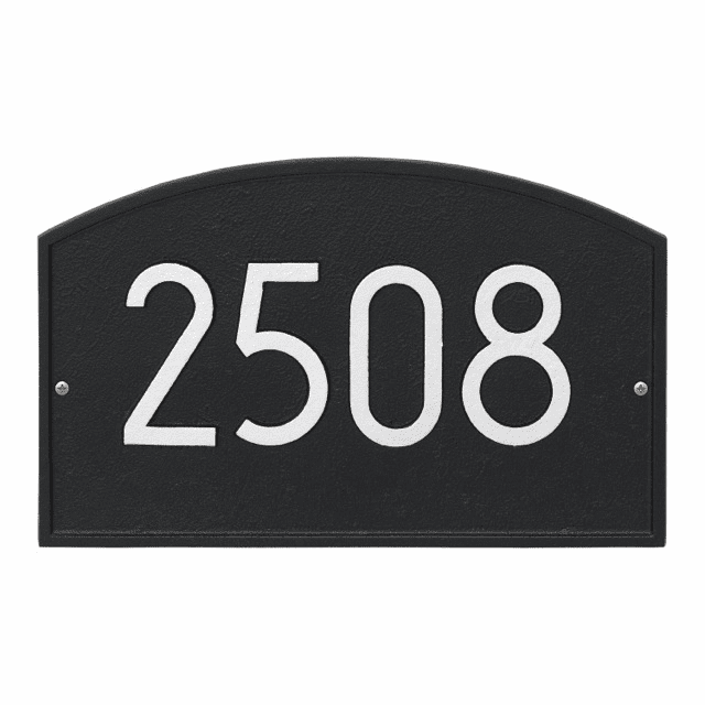 Legacy Arch Modern Wall Address Number Plaque