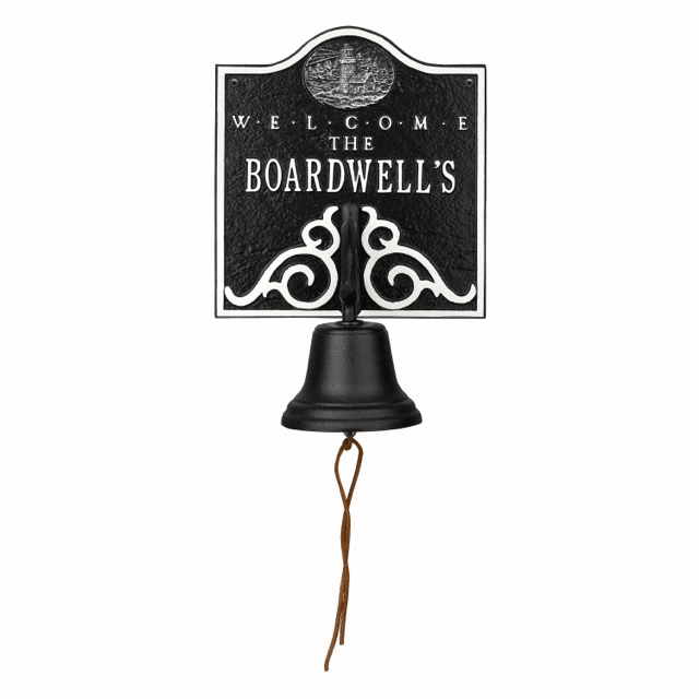 Lighthouse Bell Welcome Personalized Wall Plaque