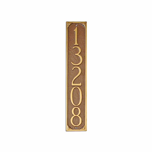 Lily Column (Vertical) Address Plaque