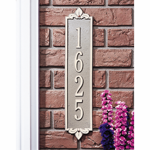 Lyon Estate Vertical Address Plaque