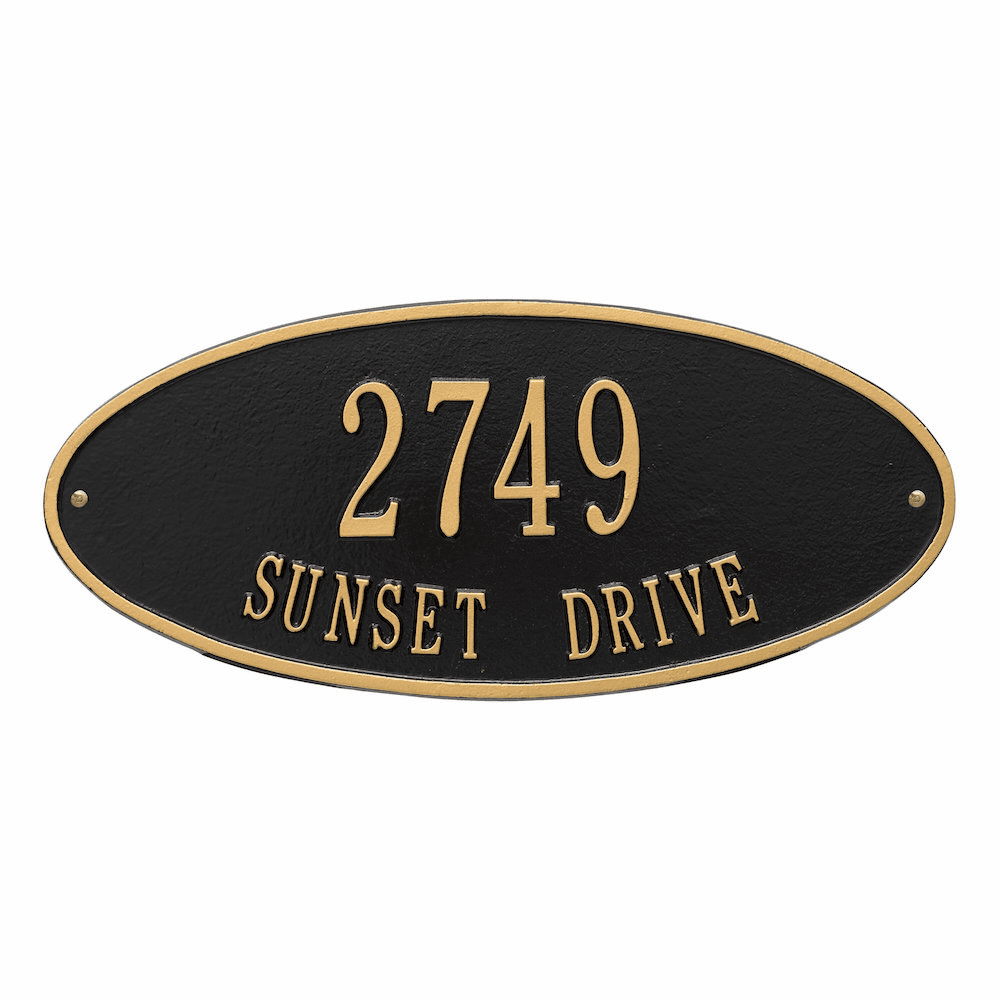 Madison Oval Standard Two Line Address Sign