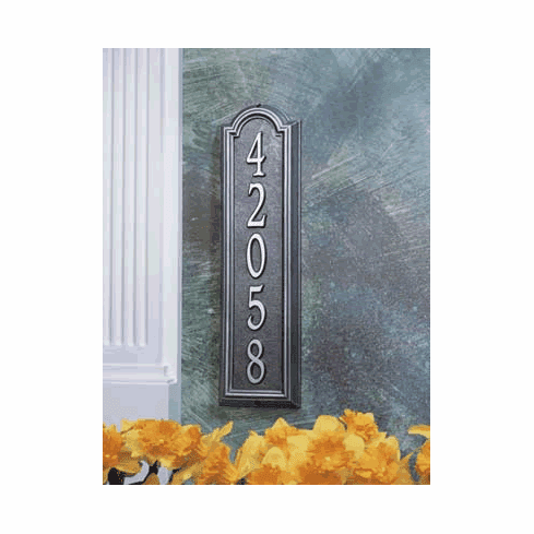Manchester Vertical Classic Address Plaque