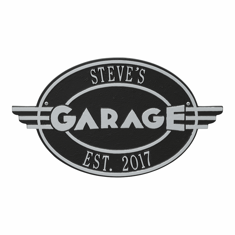 Moderno Garage Personalized Plaque