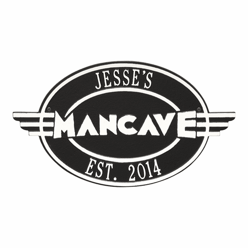 Moderno Man Cave Personalized Plaque
