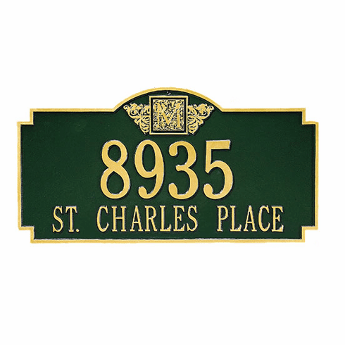 Monogram Estate Version Address Plaque