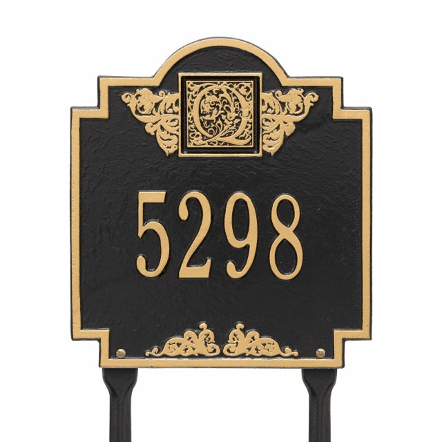 Monogram Personalized Lawn Address Number Marker