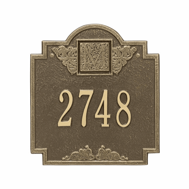 Monogram Personalized Wall Address Number Plaque