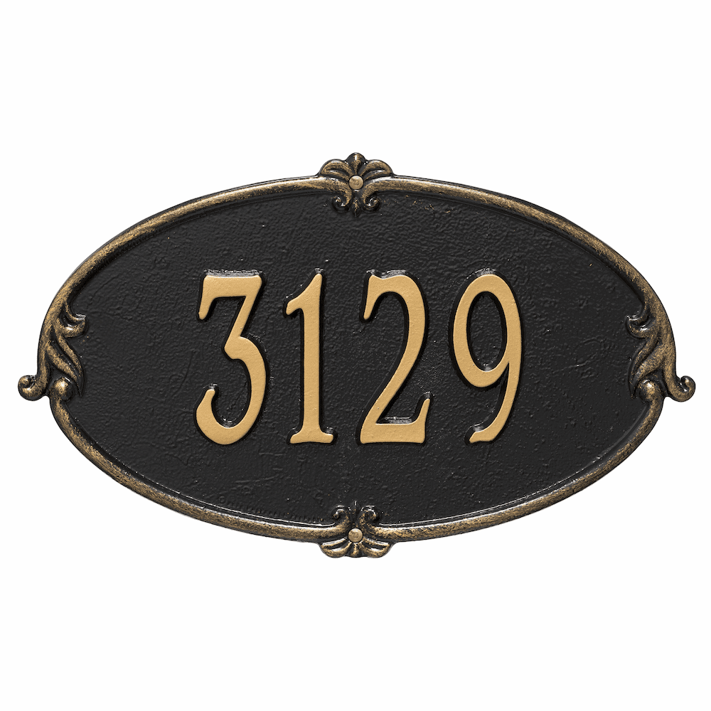 Monte Carlo Oval House Number Plaque