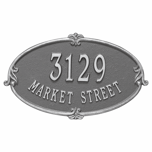 Monte Carlo Oval Wall Address Plaque