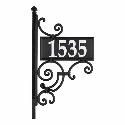 Nite Bright Ironwork Reflective House Number Post Sign