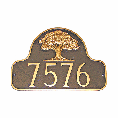 Oak Tree Arch Address Sign