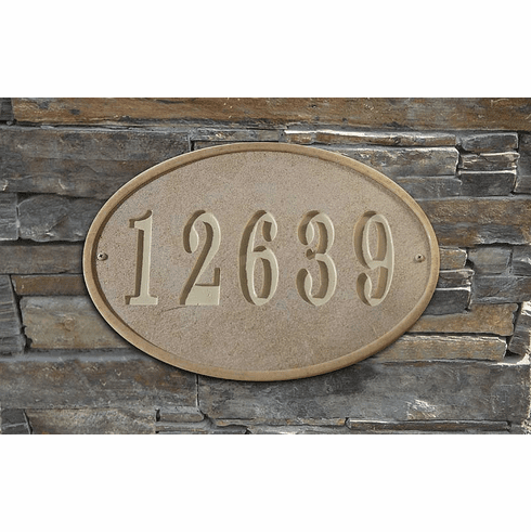 Oakfield Oval Crushed Stone Address Plaque