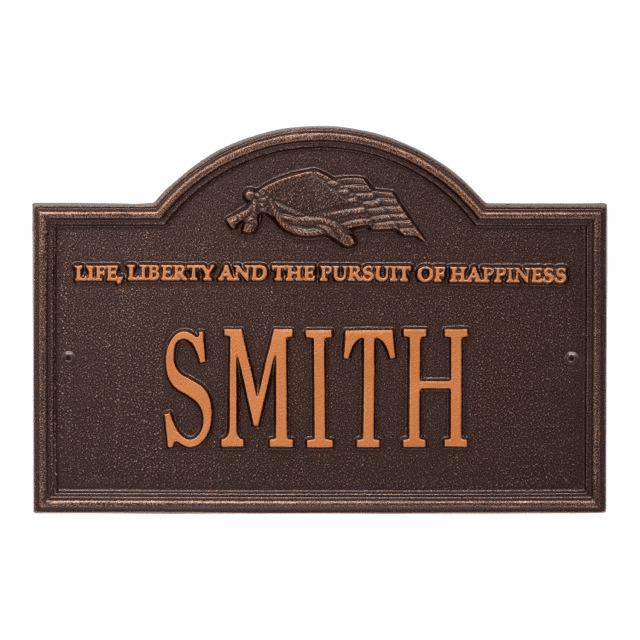 One Line Life and Liberty Plaque