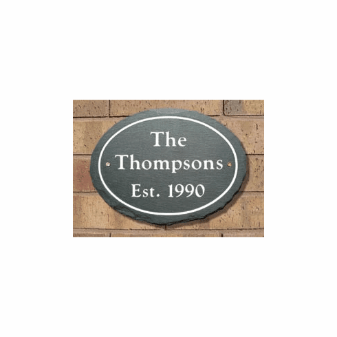 Outlined Oval Name Plaque