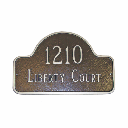 Petite Lexington Arch Address Plaque